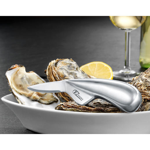 Professional Oyster Knife - In hardened surgical stainless steel. Durable and strong. Suitable for right and left handed people.