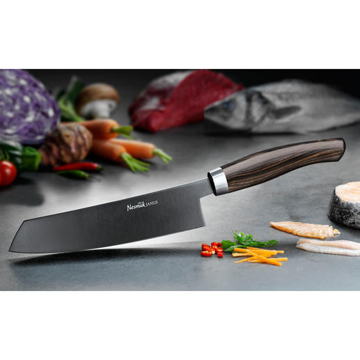 Nesmuk Chef's Knife JANUS With Ebony Handle The cook's knife favoured by top chefs. The perfect combination of technology and craftsmanship.