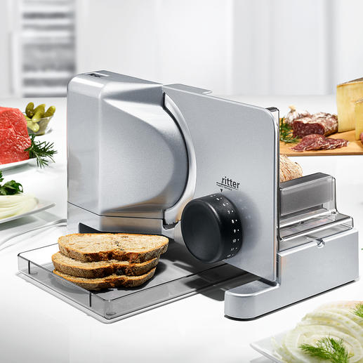 Ritter fortis1 Food Slicer incl. meat knife/slicer Everything you would expect from a good slicer. Economical. Maintenance-free.