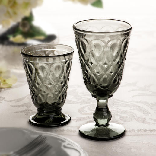 Lyonnais Glasses, Set of 6 A stylish combination of historical glassware and contemporary design. by La Rochère, established 1475.