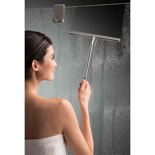 XL Shower Squeegee with Silicone Holder Less bending and reaching required.