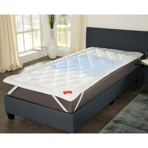 Hefel Cool Mattress Topper Ultimate sleeping comfort, even at 30°C. Quilted mattress topper with smart Cool-fleece.