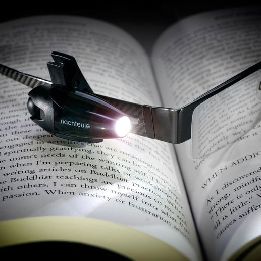 """Night-Owl"" LED Reading Splendid to read in bed, on long-haul flights, railway journeys. Keeps both hands free."