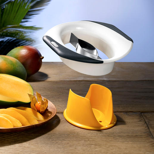 Zyliss® Mango Splitter/Peeler De-stone, peel and slice mangoes, quickly and without mess.