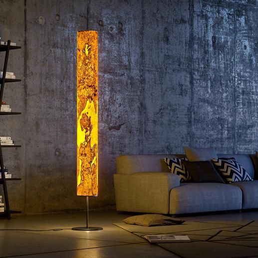 Genuine Wood Design Lamp - Unique work of art. The olive ash grain is as unique as a fingerprint.