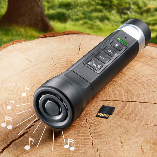 With this electric multi-tool you have a loudspeaker for your MP3 songs at hand wherever you are.