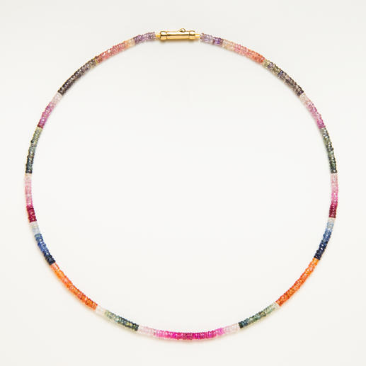 Sapphire Necklace - Rare: The complete natural colour spectrum of the sapphire - together in a single piece of jewellery.