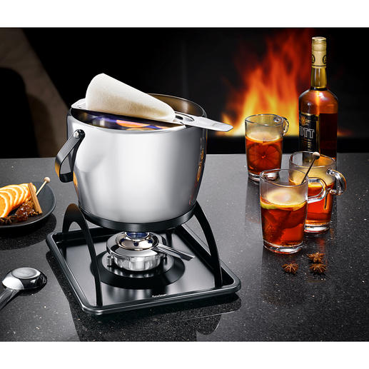 "Spring Feuerzangenbowle Set A prettier and more superior hot punch ""Feuerzangenbowle"" set. Elegant design in stainless steel."