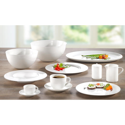 "Bone China ""À-Table"" Dinnerware - Enjoy the same porcelain used by first class passengers of SWISS Air."