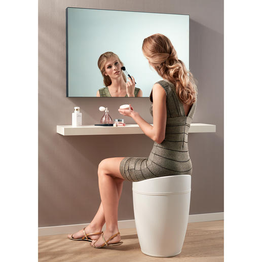 Perfect for bathrooms: Can be used as a laundry bin, but also as a stool.