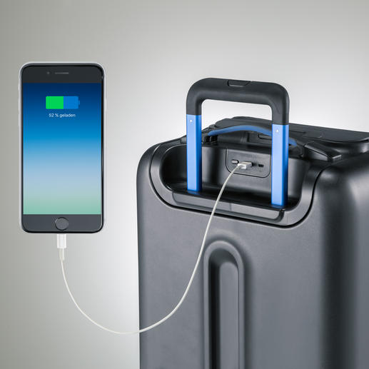 Charge your mobile phone, tablet, digital camera etc. via the 2 USB ports.