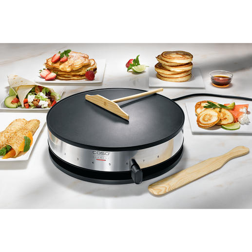 Caso Crêpe Maker Everything you expect from a good crêpe maker and at a very good price.