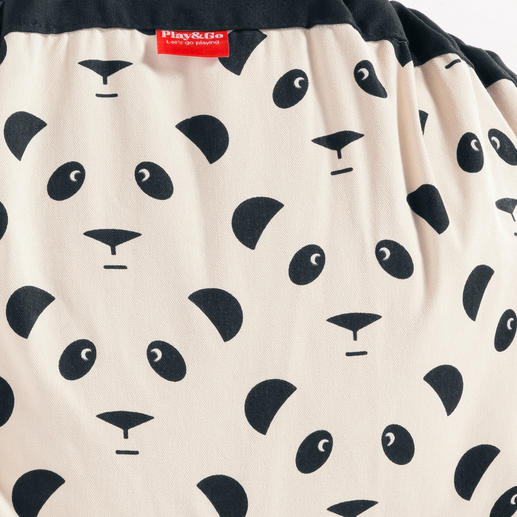 The outside is printed with an attractive panda design.