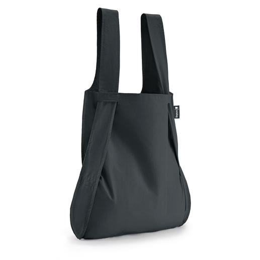 "2-in-1 ""Notabag"" Bag Ingenious foldable bag and rucksack in one.  Fits in any coat pocket."