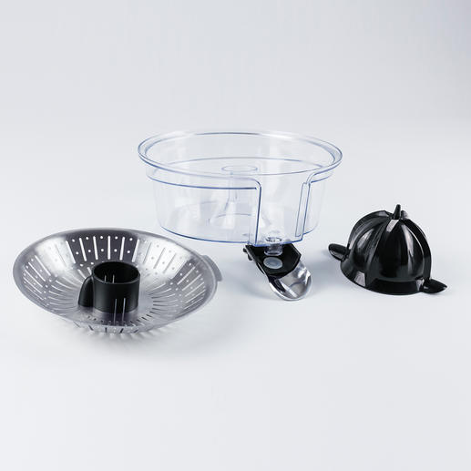 The removable parts can be easily cleaned in the dishwasher.