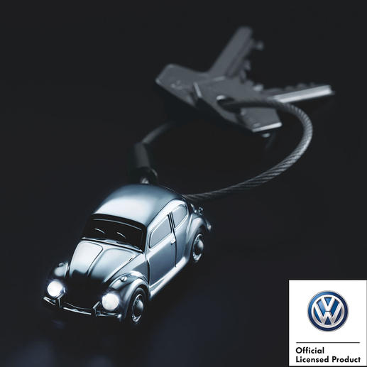 """Light Beetle 1964"" or ""T1 Camper Van 1962"" LED Key Ring The legendary classic in pocket size, with luminous LED headlights."