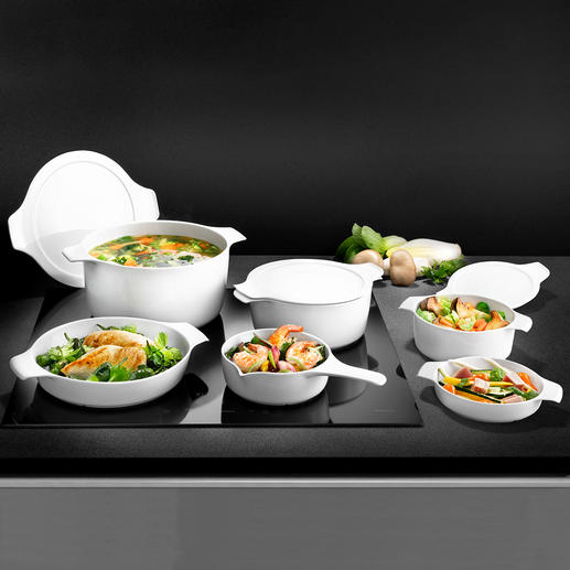 inducTherm® Cook and Serveware World novelty: The first porcelain suitable for use on induction hobs. Professional quality from Eschenbach.