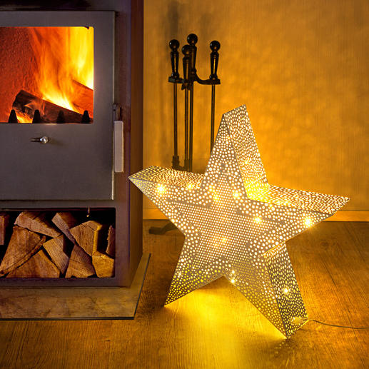 Christmas Star - The light from within shines through hundreds of hand-milled holes and adds an air of oriental splendour.