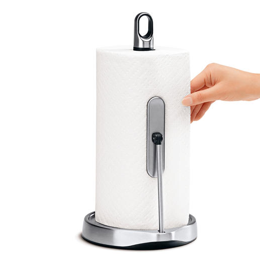 One-Handed Kitchen Paper Holder Grip the desired amount of kitchen paper in one go.