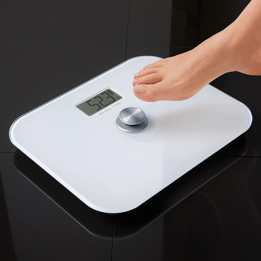 Digital Bathroom Scale without battery Saves money and bothersome battery replacement. Environmentally friendly. Always works.
