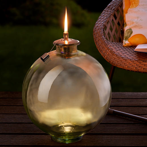 Glass Ball/Torch - Decorative glass ball. XXL garden torch. Also a wonderful home accessory.