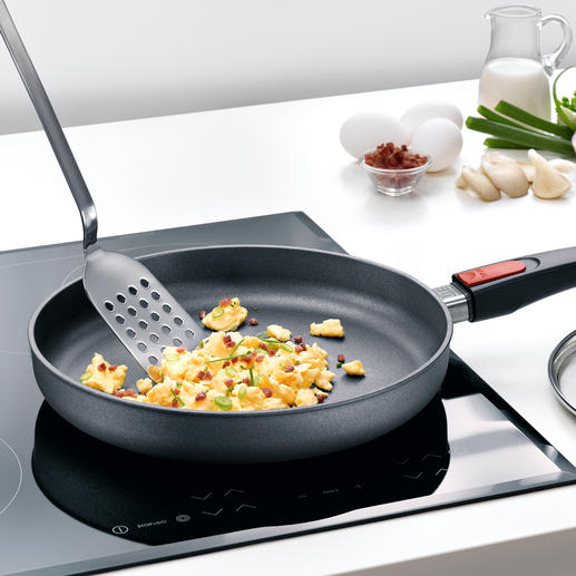 "The winner among non-stick pans. And the only one that was rated as ""excellent"". Virtually indestructible: The 5-layer hard-base coating with titanium and diamond particles. Non-stick."