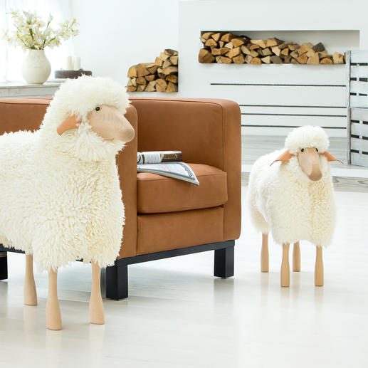 Life-Sized Sheep Design item, seat, adorable housemates: Life-sized sheep sculptures.