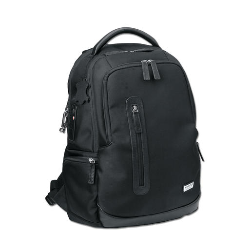 Rucksack with Fingerprint Lock - (Almost) as safe as a safe. Only your fingerprint can open the electronic scanner lock.