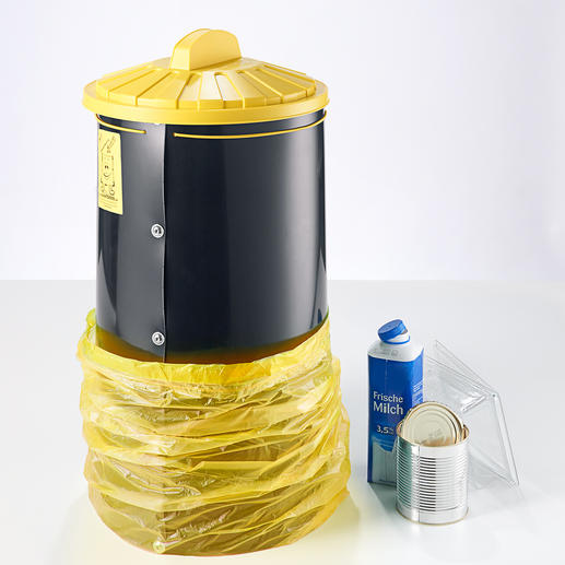 Bag Barrel Finally a space-saving, clean and optimal storage for recycling waste.