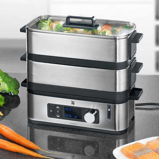 WMF KÜCHENminis Steam Cooker Premium steam cooker: Intelligent electronics, compact design,  hygienic stainless steel.