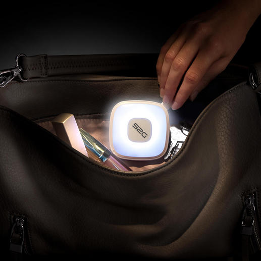 Handbag Light with powerbank Sensor-controlled handbag light and 2,000mAh power bank.
