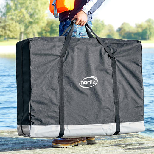 Ingenious: A kayak that fits into a bag when folded and is comfortable to carry.