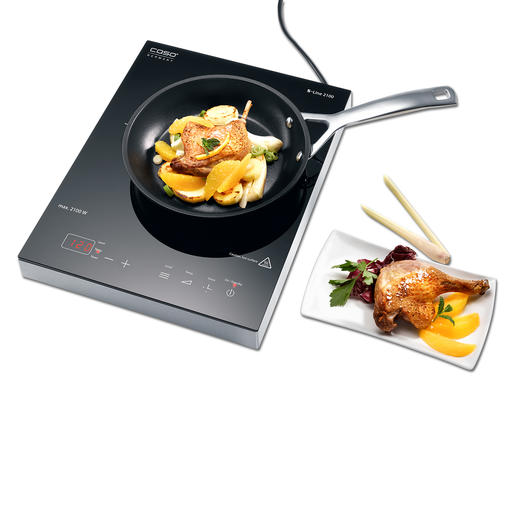 Caso Induction Hob S-Line Much more precise: The induction hob with 12 finely graduated temperature settings. Even at low temperatures.