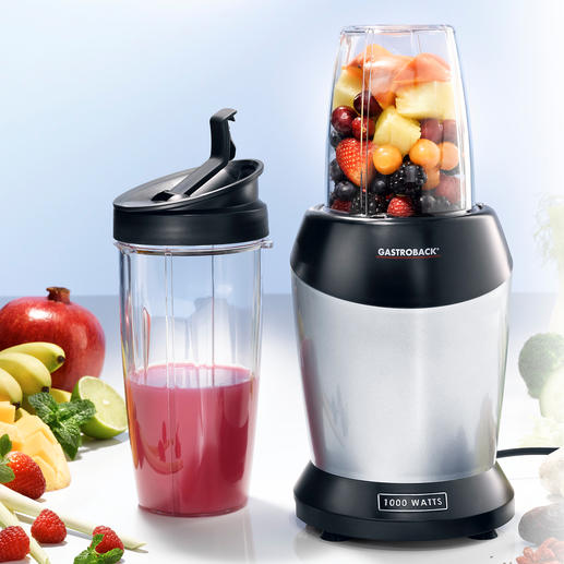 Gastroback Smoothie Blender Powerful 1,000W fruit and vegetable extractor to utilise all the healthy nutrients.