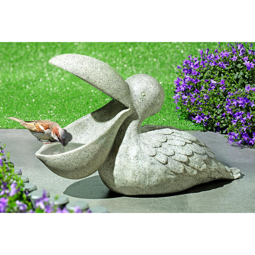 Birdbath Pelican - Exceptional garden decoration. And a perfect refuge for finches, tits & other birds.