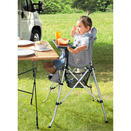 Foldable High-Chair for Children Ideal for a holiday, visiting friends, aunts or grandparents.