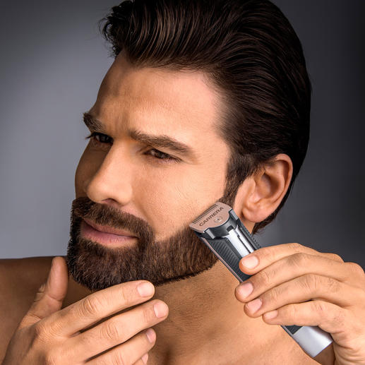 CARRERA Beard Trimmer No. 623 - For short and longer hair. Extra narrow and sharp cutting head made of titanium coated stainless steel.