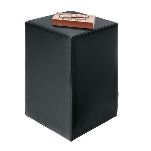 Design Stool With solid, durable upholstery.