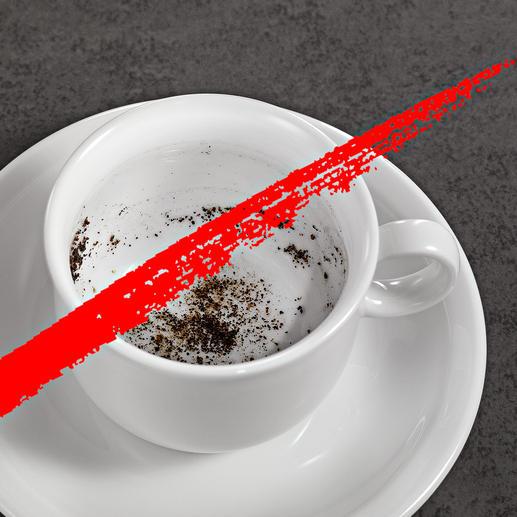 No more sludge in your coffee.