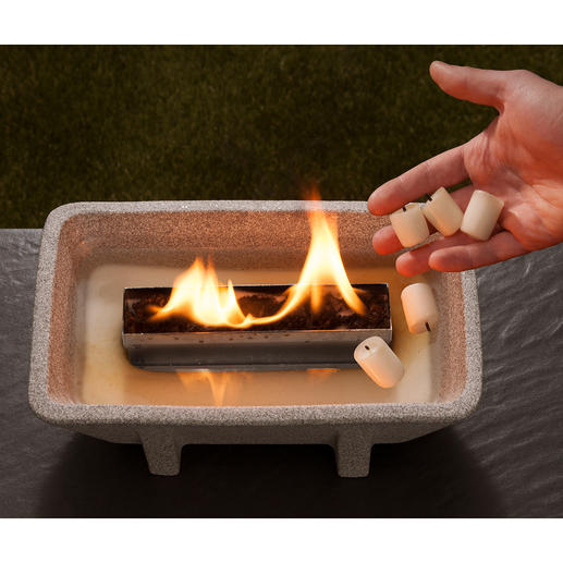 No ash, no soot and yet a romantic fire – with the Schmelzfeuer® XL.