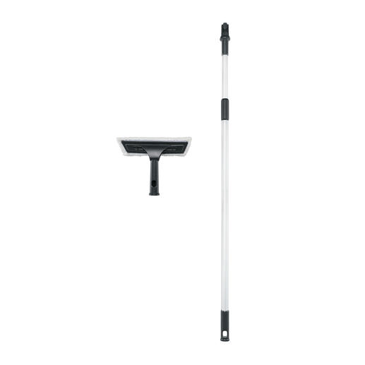 With the telescope extension handles for mop and squeegee, you can reach work heights of up to 4m (13.1ft) without any problems.