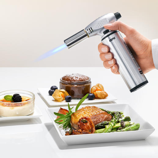 Professional Cook's Blow Torch - The secret of great pastry cooks.