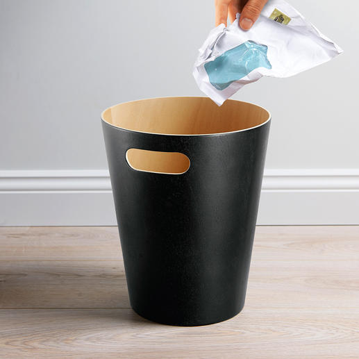 "Waste Paper Bin ""Woodrow"" - Timelessly elegant, simple design. Much more beautiful than plastic or cold metal."
