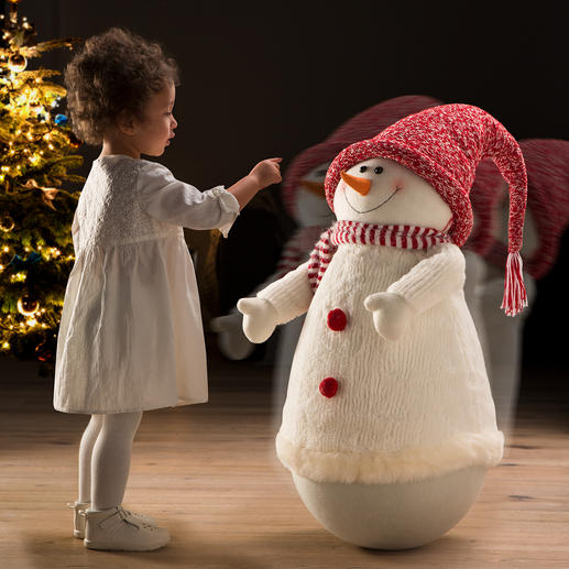 Rocking Snowman - This round-necked snowman will make you want to touch him over and over again.