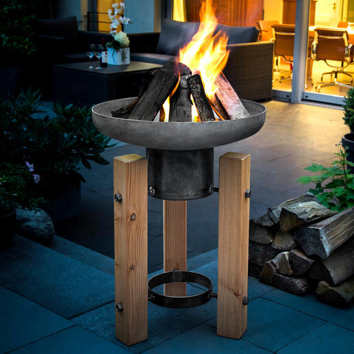 Fire/Plant Bowl - Decorative planter in the summer; an impressive fire bowl for autumn and winter.