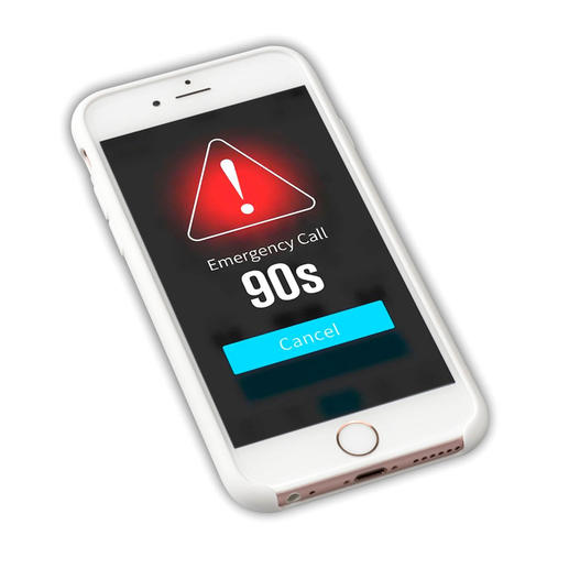 and in case of an emergency, an SOS message with GPS tracking is send after 90 seconds.