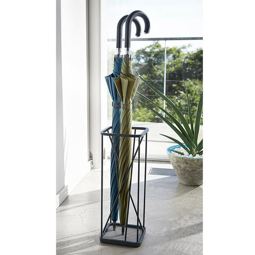 Umbrella Stand, 9 Squares Modern, geometric design with invisible arrangement.