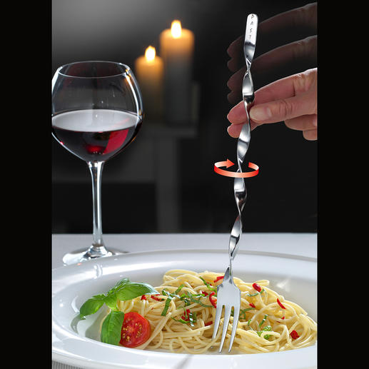 Spaghetti Spiral Fork, Set of 2 - Twisting spaghetti is a breeze with the spiral fork.