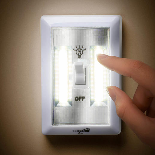 Battery Powered LED Wall Light, Set of 3 - Bright room lighting – it's never been so simple.