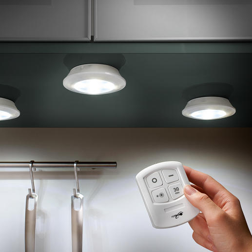 Cordless LED Lights, Set of 3 - Cordless LED light, where and how you need it.